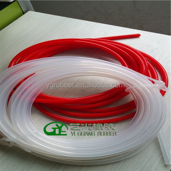 Thin wall silicone rubber tubing