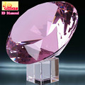 Romantic Crystal Gift Pink K9 Crystal Diamond for Wedding Ceremony