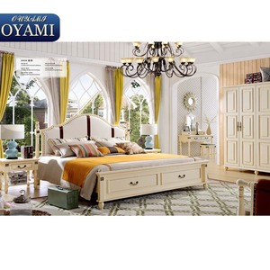Top Class Wooden Slats Hot selling rococo bedroom set