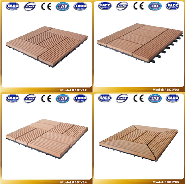 Eco-friendly Waterproofing WPC Outdoor DIY Floor Manufacturer