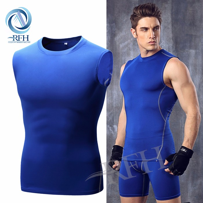 Compression Dry Fit Sports Uniform Mens Running Clothing Golf T Shirt