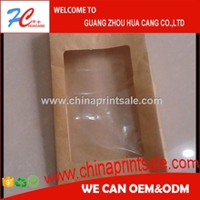 Guangzhou HC craft/kraft paper bags with clear window