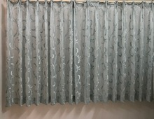 Chinese window treatments flocking curtain folding