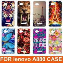 14 patterns colored case For Lenovo A880 cover New Painting Hard PC Phone Case Cover For Lenovo A880 A889