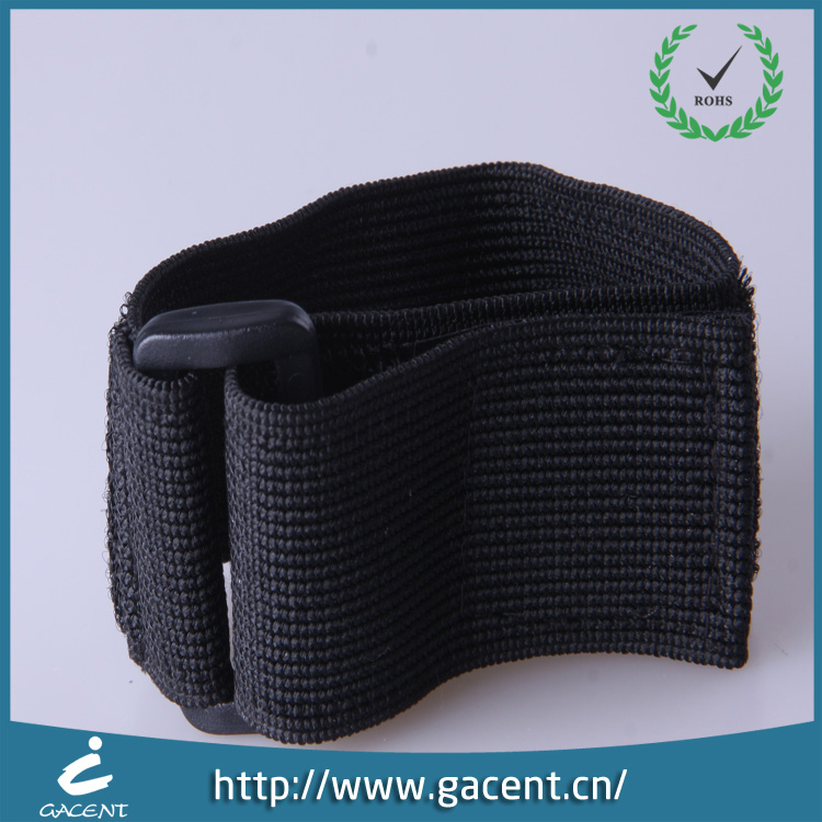 Black elastic arm straps sewing with buckle and velcro for exercise
