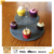 popular black natural two-tier natural slate cake stand food serving platter