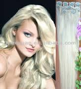 high quality white synthetic hair extension weft tangle free