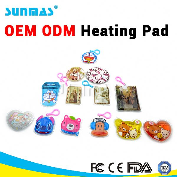 Sunmas OEM ODM Magic Reusable Heating pad FDA CE click and heat pads