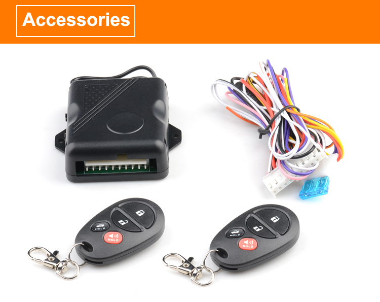 Keyless entry system with the learning code switch in the PCB, MAX. to learn 4 remote controllers