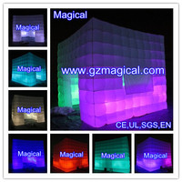 Lighting advertising exhibition trade show stand inflatable booth