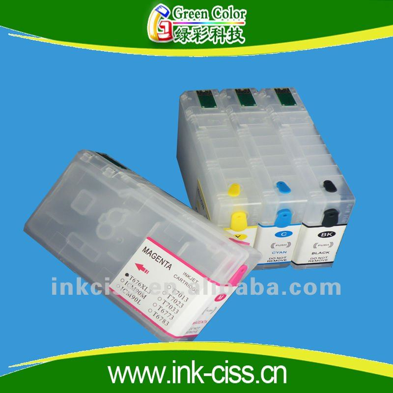 refillable ink cartridge for epson WorkForce Pro WP4531 WP4011 WP4511 WP4521
