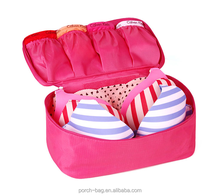 Factory custom portable bra panty bag, travel underwear bra organizer