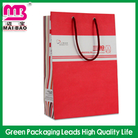 Large capacity free sample offer clothes packaging use kraft paper bag with tag