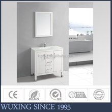 China Factory Directly Sale Price Glass Top Basin/ Bathroom Vanity Set /Bathroom Furniture With Mirror