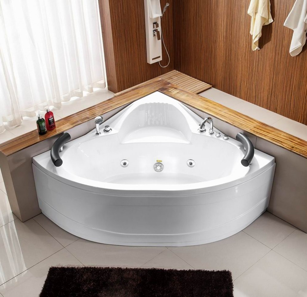 Royal fan-shaped indoor massage bath tub A033