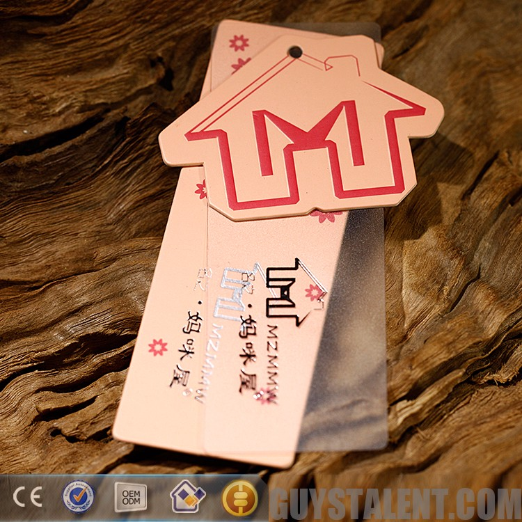 Customized Professional Good price of transparent hang tag for clothing with cheap