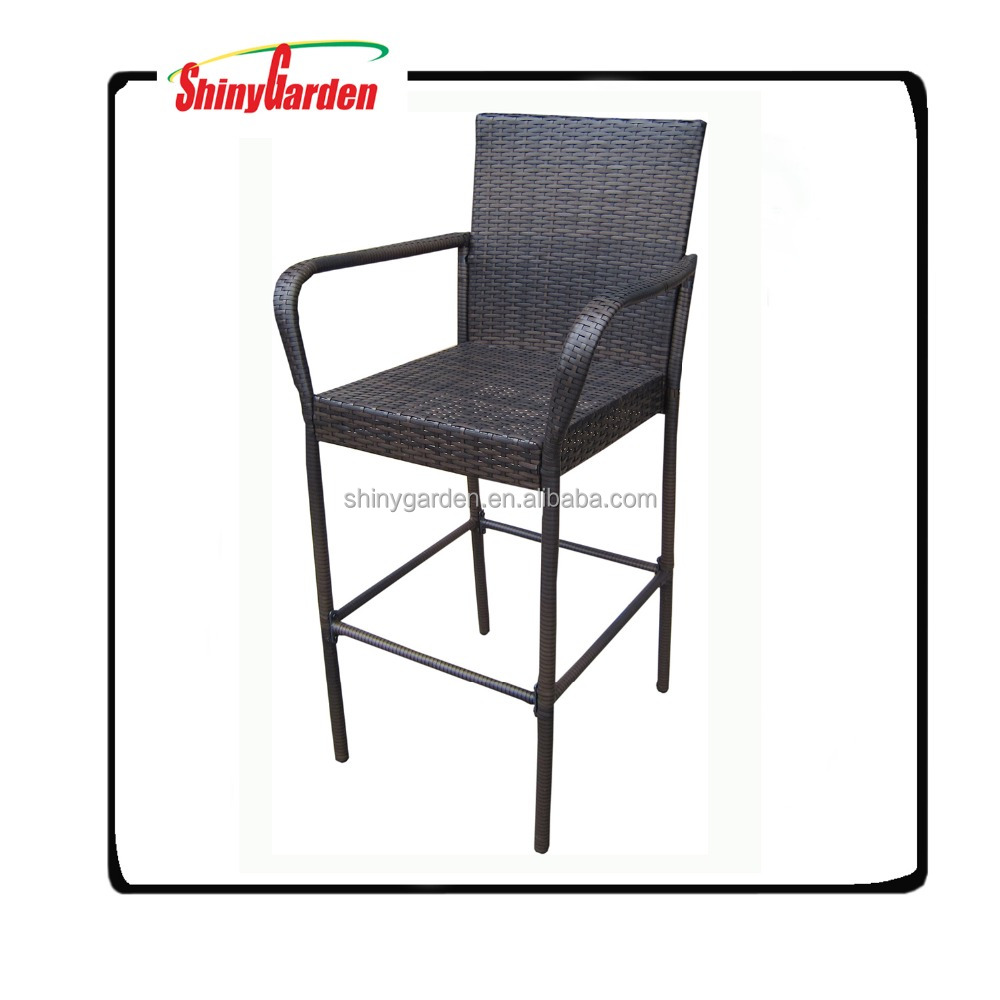 Hot sale Pe/wicker Rattan With Armrest Bar Chair