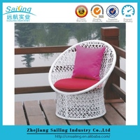Modern Balconies Wicker Rattan Modern Egg Shaped Wicker Chairs