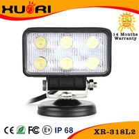 18w Square Car Led Work Lighting Led Driving Lights For Engineering Lamp/auto Inspection Lamps For Led Car Light