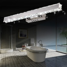 Contemporary LED Bathroom Mirror Crystal Lighting Fixtures For Hotel