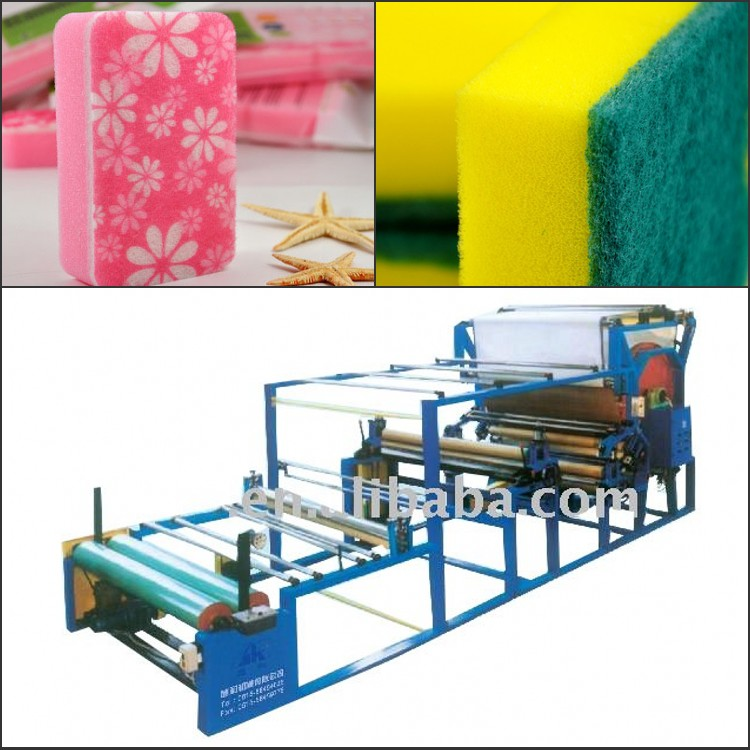 SH-2001 Solvent Water Based Glue Kitchen Sponge Laminating Machine