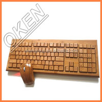 2016 unique design 100% natural bamboo bluetooth mouse/handmade bamboo computer mouse /wireless keyboard