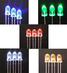 warm white piranha fish 5mm yellow dip led diode rgb led 0.06w 5mm flat top