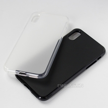 Blank white black matte tpu gel case for apple iphone 8 case