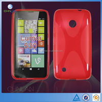 Brand New Fashion X Line Translucent Soft Gel TPU Cell Phone Cover Case for Nokia Lumia 530