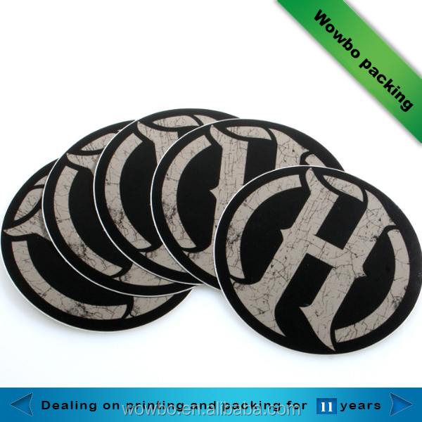 China cheap waterproof pvc custom round sticker personalized die cut vinyl paper custom sticker