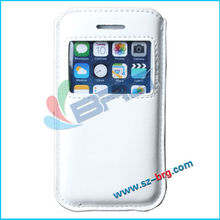 BRG Manufacture Newest pull tab leather pouch case for iphone 5