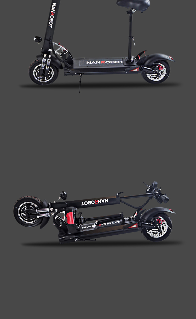 Custom Best Chinese 2000 Watt 2000w Adult New Style Two Wheel Drive Folding Electric Chariot Mobility Scooter