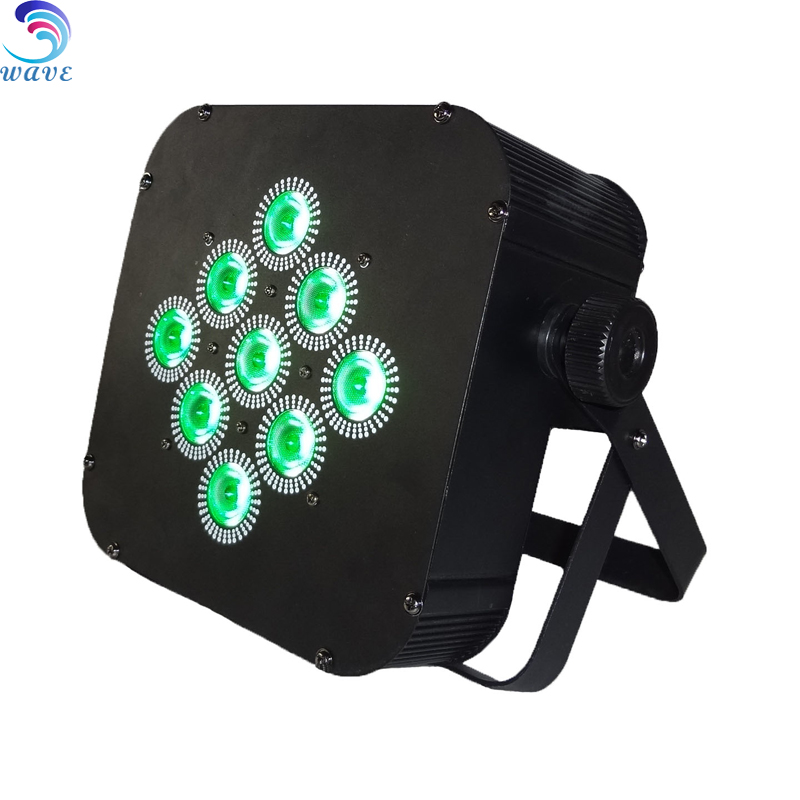 For club lighting Flat Battery Power 9pcs 15w wireless Led Par lights