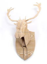 DIY 3D Cut Model Kit- Wooden Puzzle Kit for Educational &Wall Decor - Construct a Creative& Visual Model on Your Own Deer Head