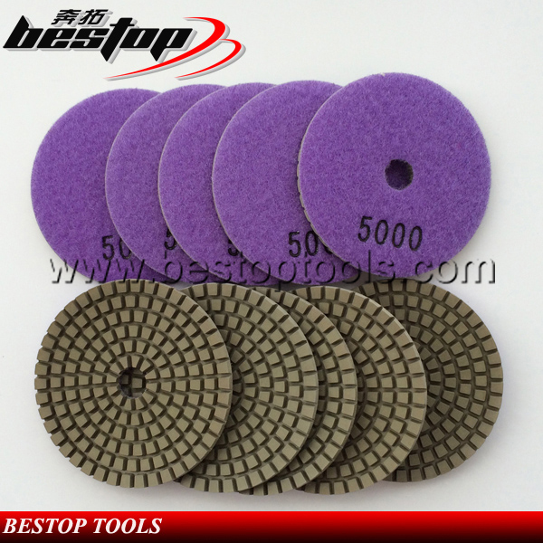 Bestop Hot Sale 4 Inch Diamond Wet Polishing Pad for Grantie