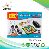 10 in 1 chess game set with magnetic board