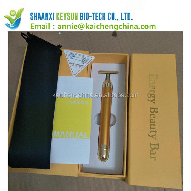 wholesale price 24K gold eye face warm massage stick for woman beauty 24k golden stick