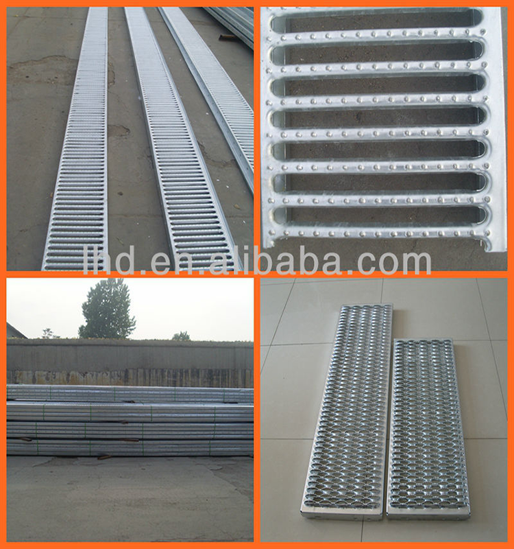 steel beams stair treads for oil fields