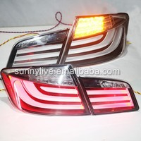 2010-2013 Year For BMW F10 F18 520 525 530 535i LED Tail Light Rear Lamps Chrome Housing DB
