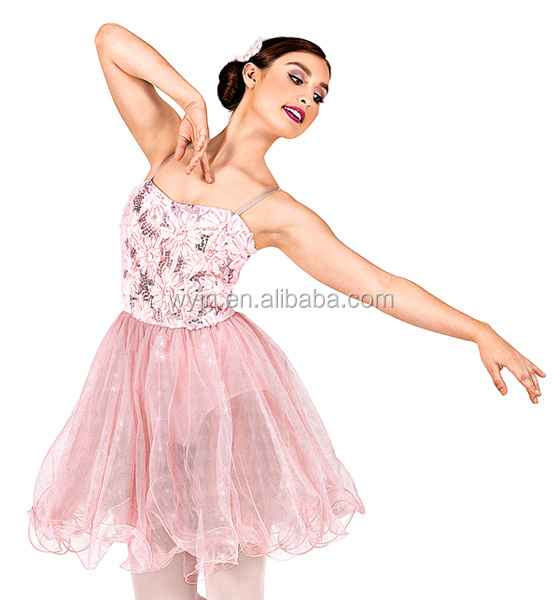 2016hot style !!-light pink camisole tutu dress - lace sequin and flower sparking tulle romantic tutu