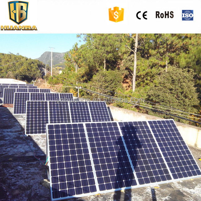 Useful 80w 100w 120w 200w 400w solar panel complete home solar power system