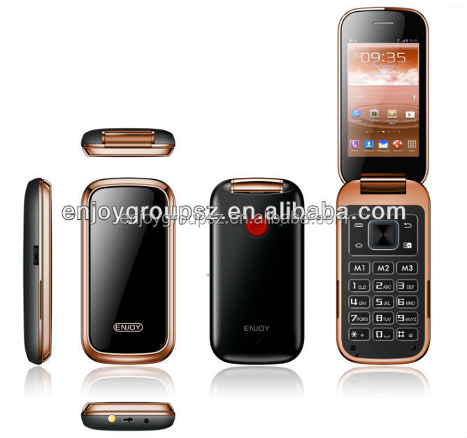 3.2 inch W58 china supplier flip 3g wcdma mobile phone sos system senior phones