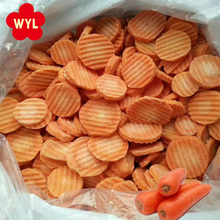 Bulk Wholesale Crinkle Cut IQF Frozen Sliced Carrot for Cook