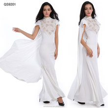 Hot sale Indian designer fashion cap sleeve women sexy maxi dress