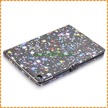Fashional glitter star pattern leather wallet case for ipad air 2