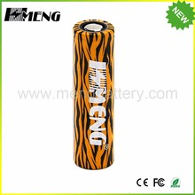 Low noise high speed meng Tiger color 3.7v lithium high quality 18650 battery