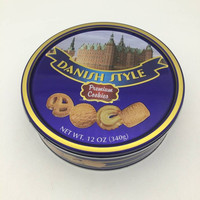 cylinder candy & cookie tin box