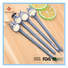 wholesale High quality cute cartoon pen with pvc plastic pencil topper