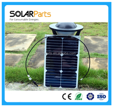 18W Customized Sunpower Semi Flexible Solar Panel With MC4 Outlet