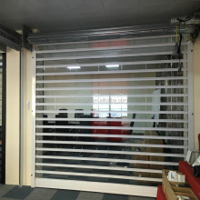 Commercial Door with crystal slat